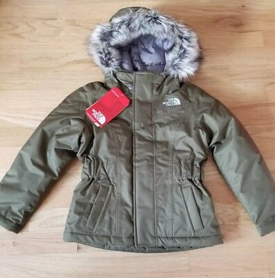 The North Face Kids Greenland Down Parka Olive Green Waterproof 550 New