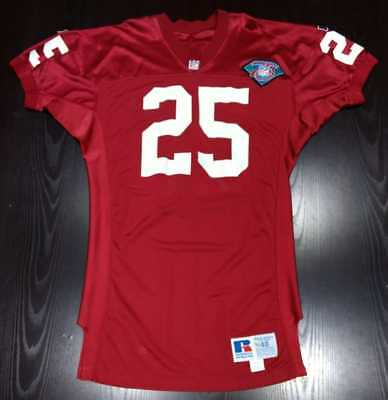 1994 Fred McAfee #25 Arizona Cardinals Authentic Russell Game Worn Jersey 48+4