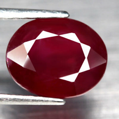 3.91Ct.Growing! Oval Facet Top Blood Red Color Good Natural Ruby Madagascar