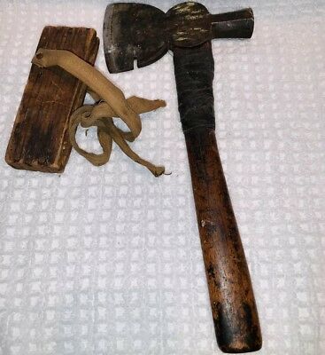 "Antique 1800's Native American Tomahawk Stamped #1 by ""Underhill Edge Tool Co."""