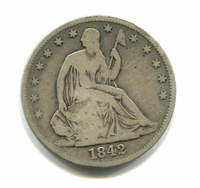 1842 O LIBERTY SEATED HALF DOLLAR low mintage