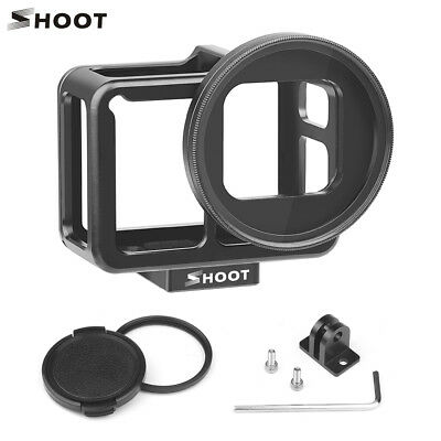 For Gopro Hero 7 Black Camera Protect Housing Cage Case 52mm UV Lens Filter K3W9