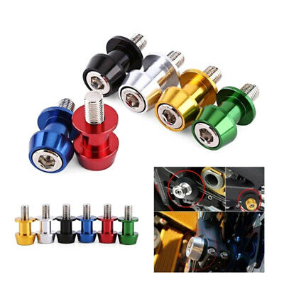 1pair 6mm 8mm 10mm aluminum motorcycle stand spools slider stand screw SE