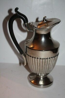"Victorian Silver Plate Made in England 9"" Hot Water Jug with Attached Lid"