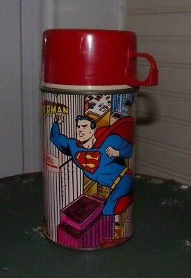 1967 Metal Superman Thermos National Periodical Publications Bottle #2892