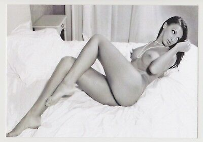 Postcard Pinup Risque Nude Stunning Girl Extremely Rare BW Photo Post Card 8721