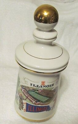 "1972 Stitzel-Weller Old Fitzgerald Distillery ""ILLINOIS"" Decanter    (ds177)"