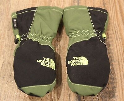 THE NORTH FACE HyVent Toddler Waterproof Snow Mittens Green/Black, Size 2T *EUC*