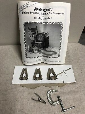Braid Craft Shirley Botsford 3 Rug Braiders Braiding Cone Clamp Instruction Lot