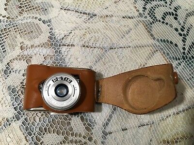 Vintage Peti-Tux Petie Subminiature Spy Camera, Case, Made In West Germany
