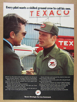 1969 Texaco Airport Dealers Strategic Service Command aviation vintage print Ad