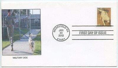 2012 Fdc, Military Dogs, Dogs At Work