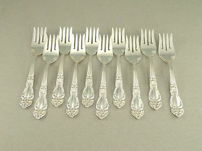 Reed & Barton Tiger Lily Festivity Silverplate Pastry Fork Set Of 10