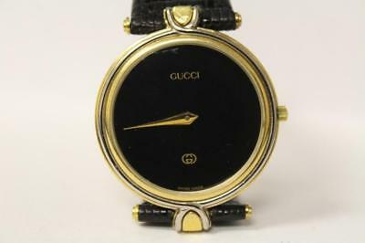 b63f0f2ca44 Vintage Gucci 4500M 18K Gold Plated Steel Two Unisex Tone With Original Box