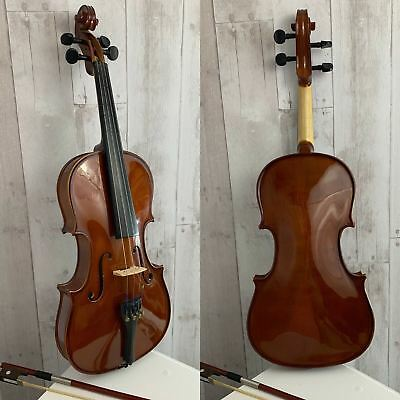 Full Size 4/4 Natural Acoustic Solid Wood Violin Fiddle for Student Gift
