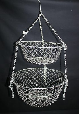 ThriftCHI ~ Two Tier Wire Hanging Fruit Basket