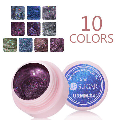 UR SUGAR Glitter 5D Cat Eye Nail Gel Polish 5ml Magnetic Soak Off UV Gel Varnish