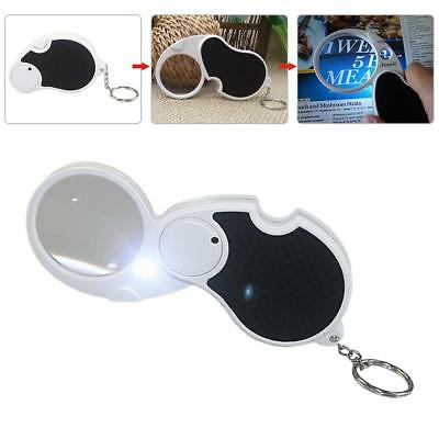Metal Glass Magnifying Magnifier Jeweller Eye Jewelry Loupe Loop LED Light