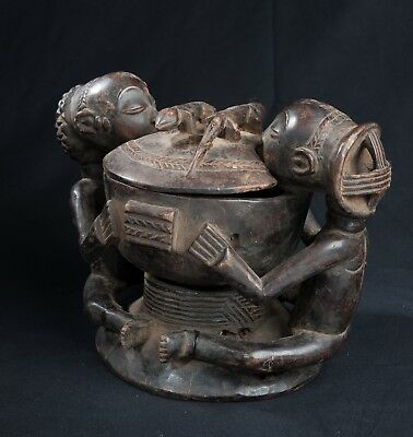 Luba, Divination Bowl, D.R. Congo, Central African Tribal Arts