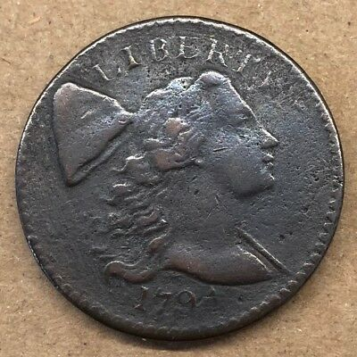 1794 Liberty Cap Large Cent, RARE DATE, High Quality, VG+