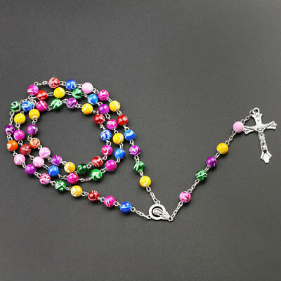 Pearl Rosary Beads Rosary Necklace Catholic Prayer Glass Beads High Quality