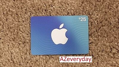 App Store & iTunes - $25 dollar Gift Card - PHYSICAL card within US only FREE SH
