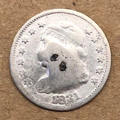 1831 Capped Bust Half Dime, GOOD