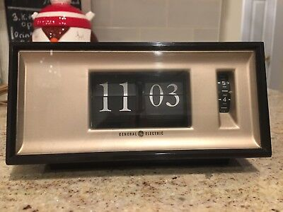 General Electric Flip Number Alarm Clock Model 8116K Mid century Modern Clock