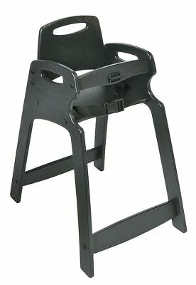 CSL Foodservice And Hospitality Eco High Chair, Assembled, Black - KB833-02