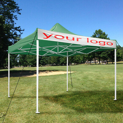10x10ft EZ Pop Up Canopy Commercial Tent Sun Shade Shelter Green with Carry Bag