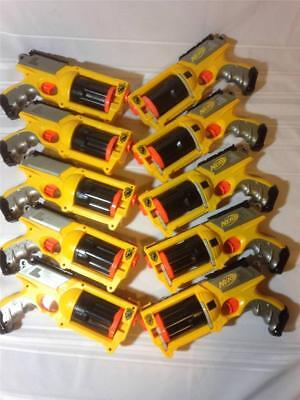 Lot of 10 Nerf N-Strike Maverick REV-6 Dart Blaster Gun 6-Shot Revolvers TESTED!