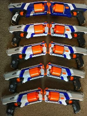 NERF Lot TEN 10 Strongarm N-Strike Elite Revolver Pistols Dart Gun TESTED! WORKS