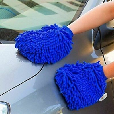 2PC Car Cleaning Glove Vehicle Care Washing Brush Microfiber Chenille Wash tool