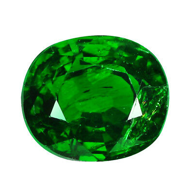 1.31Ct LUXURIOUS! OVAL CUT SPARKLING FIRE !! 100% NATURAL TSAVORITE !!!