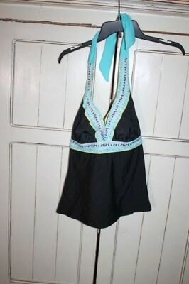 5f8f80d874523 Athleta Halter Tankini Top Underwire 32D 30DD Tall Swim suit bathing NWOT