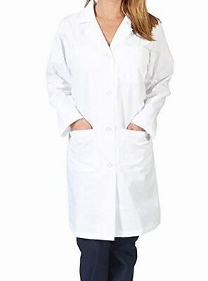 Natural Uniforms NEW White Unisex USA Small S Solid Button-Down Lab Coat #431