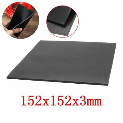 "1/9"" Thick Black Rubber Sheet Chemical Resistance High Temperature 152x152x3mm /"