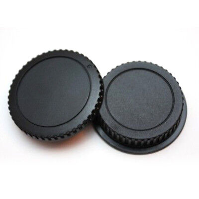 For Canon EOS EF Camera Lens Rear Cover Front Body Cap ABS Plastic Covering Caps