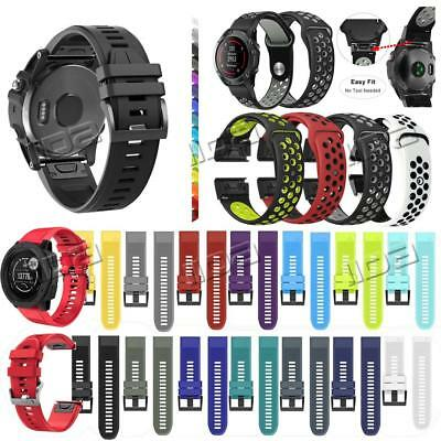 Quick Install For Garmin Fenix 3 5 5X Plus Silicone watch Band Easy Fit Strap