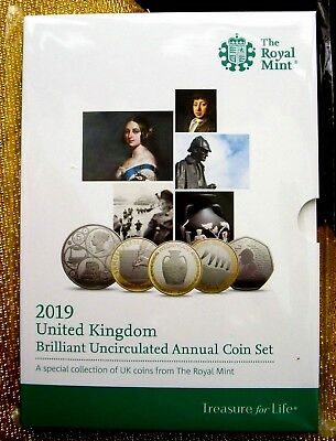 2019 ROYAL MINT ANNUAL COIN SET. UNCIRCULATED. 13 coins BU. NEW & SEALED