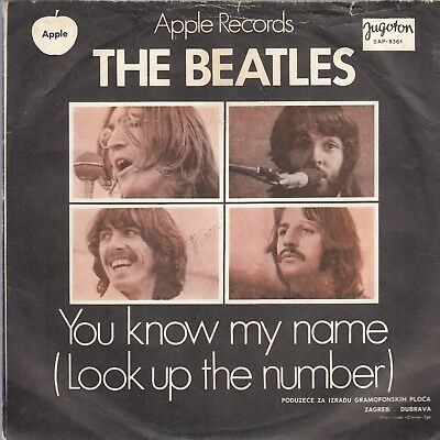 """THE BEATLES-LET IT BE/YOU KNOW MY NAME-ORIGINAL YUGOSLAV PS 7"""" 45rpm 1970-APPLE"""
