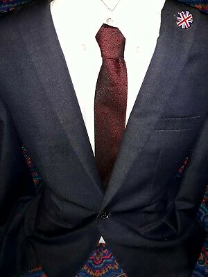 Vintage TREVIRA tie TWO TONE tonic  polyester ROCKABILLY INDIE MOD 50/60TS RETRO