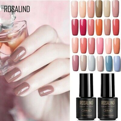ROSALIND Nail Art 7ML Nude Color Series UV Gel Nail Polish  Glitter Varnish