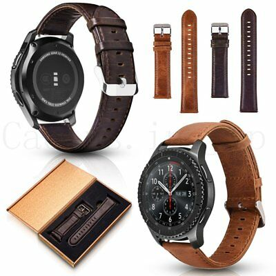 Genuine Leather Wrist Band Strap For Samsung Gear S3 22mm NEW Galaxy Watch 46mm