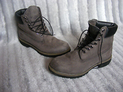 76d5b381ccef Men s Grey Leather Timberland 6609A 6 Inch Premium Ankle Boots UK 9 EU 43.5  1