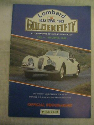 1982 Lombard Golden Fifty Rally programme