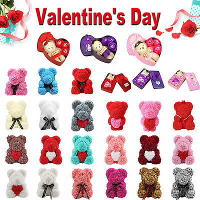 Rose Flower Bear Teddy Bear Luxury Girlfriend Valentine's Day Gift Various Sizes