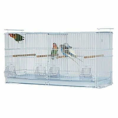 Kookaburra Walnut Double Wire Breeding Cage For Cockatiels Budgie Canary Finch