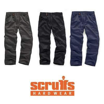 SCRUFFS WORKER GRAPHITE NAVY BLACK MULTI POCKET WORK TROUSERS (All Sizes) TRADE