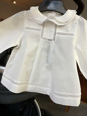 Bonpoint Style French Boutique Cyrillus Baby Girls' Blouse 6-9 months NWT